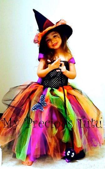 Halloween Tutu Dress Spooky Witch Tutu Dress by MyPreciousTutu