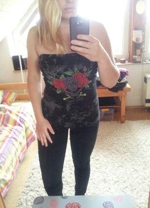 Kaufe meinen Artikel bei #Kleiderkreisel http://www.kleiderkreisel.de/damenmode/tanktops/136294778-rockiges-tragerloses-top