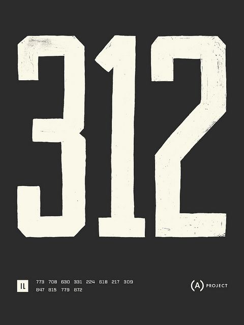 The Area Code Project. - I remember switching from 312 to 773 b/c we lived on the northside.  Ah, memories.