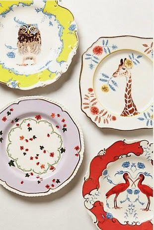 Platos decorativos de Anthropologie 1