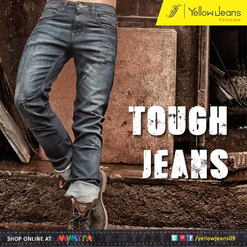 Tough Times don't last, Tough people do...  Reflect your success over the tough with this pair of stylish jeans from Yellow Jeans, made to last long.  Get one now here: http://bit.ly/shopyellowjeans