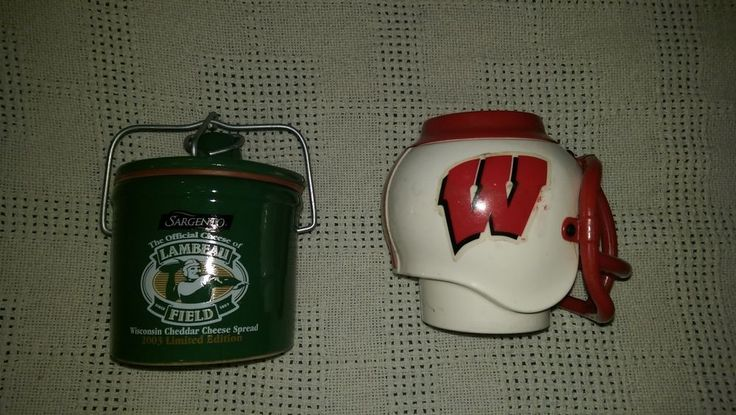 Lot Of 2-Lambeau Field Sealed Jar,WIS,Badgers,Drink Holder,helmet,must see