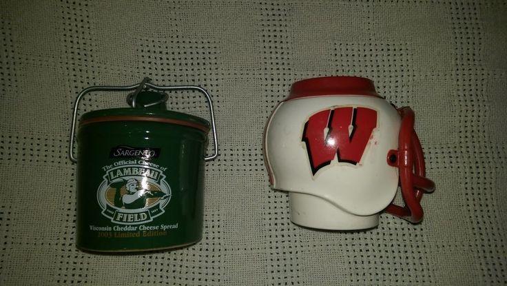 Lot Of 2-Lambeau Field Sealed Jar,WIS,Badgers,Drink Holder,helmet,must see