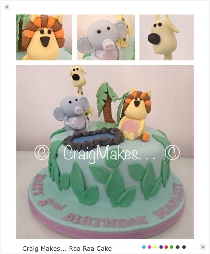 Raa Raa the noisy lion themed cake
