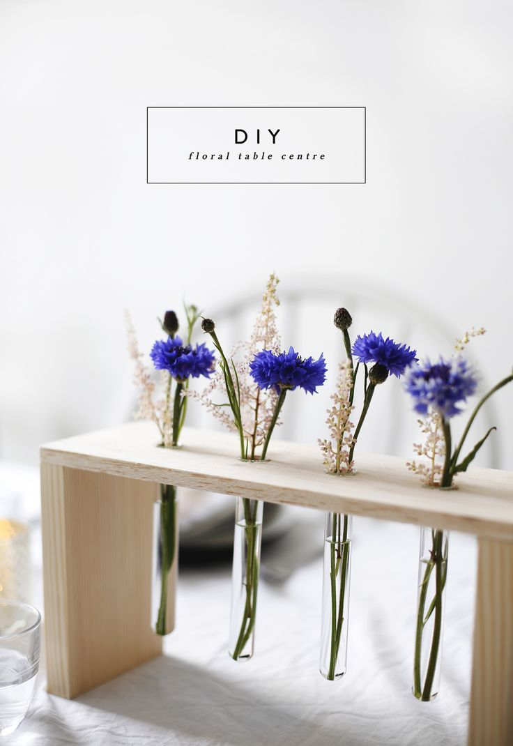 DIY fleuris pour un centre de table /DIY floral table centre idea | home diy tutorials | a fun way to display flowers | home decor