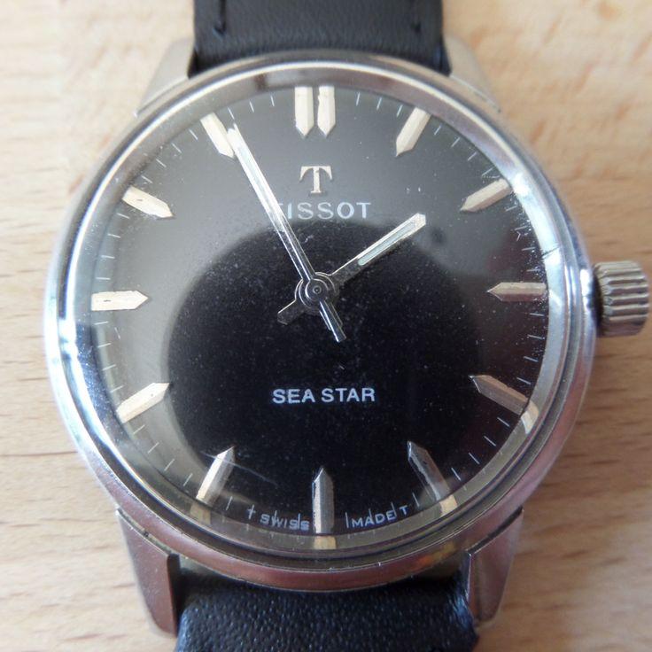 TISSOT SEASTAR - 1966 Vintage Guaranteed Genuine, Swiss made Gents/Mens mehanical mechainsim wrist watch by EWcoLondon on Etsy