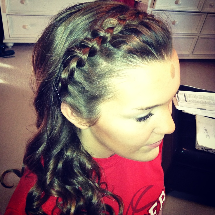 headband braid with curls - photo #8
