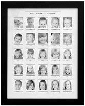 "14""x18"" Birth-to-Age-18 Photo Collage Frame is truly unique.  Photos every 3 months up to age 2 and then yearly from age 3 to 18.  Many color options.  Hand made in America since 1990.  99.8% Customer Satisfaction Rate.  Shipping both ways refunded if not delighted."