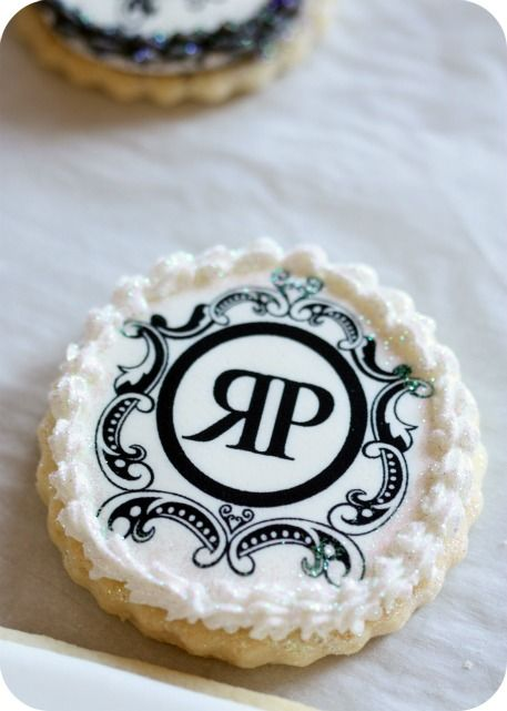 "~How to Make Decorated Logo Cookies....I am ""stoked""!!  Would be SOO thrilling to bake & assemble for any personal party: such as bridal or baby shower, bachelorette, birthday girl, wedding or anniversary favor, giving out the name of the baby expecting??....continuous possibilities!  <3!"