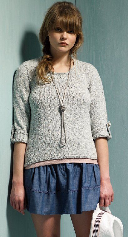 Knitting Patterns For Rowan Summer Tweed : Free knitting pattern - Amble by Kim Hargreaves in Rowan Summer Tweed: http:/...