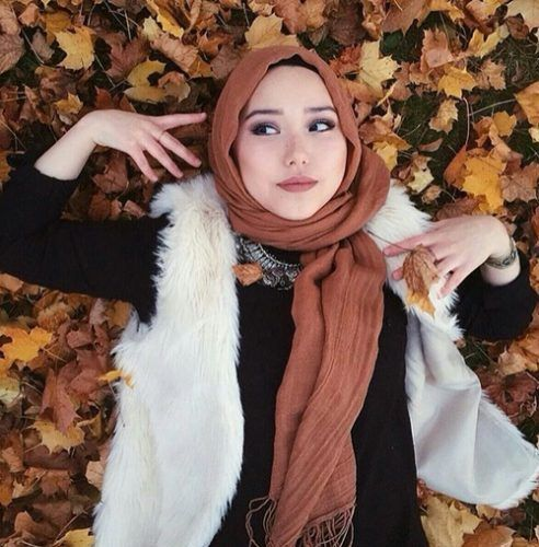 white-fur-vest-with-cute-tan-hijab