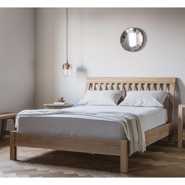 Marlow Oak  Bed - Reclaimed wood Danish Style bed - Modish Living