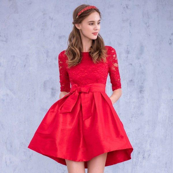 Красные вечерние платья 2020-2021 года, лучшее красное ...