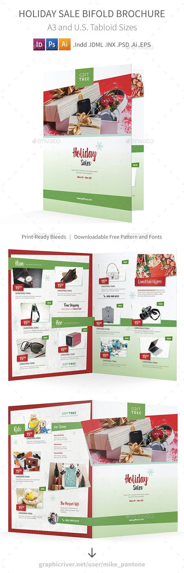 100 Sales Brochure Templates Christmas Sales Brochure Template