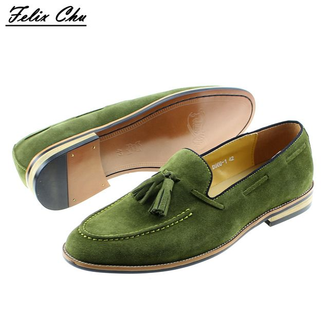 Special price Brand New Smart Mens Green Wedding Dress Shoes Men Casual Loafers Cow Suede Genuine Leather Male Driving Flats Party Footwear just only $59.99 with free shipping worldwide  #menshoes Plese click on picture to see our special price for you