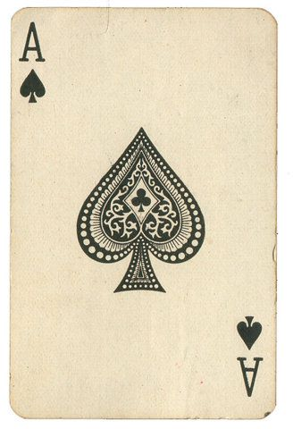 Love vintage playing cards for line and pattern suggestions.