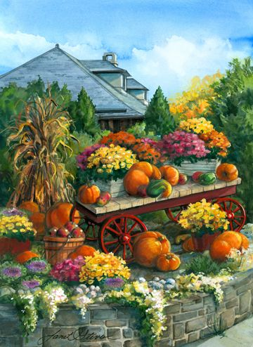 Downtown Autumn by Janet Stever ~ harvest