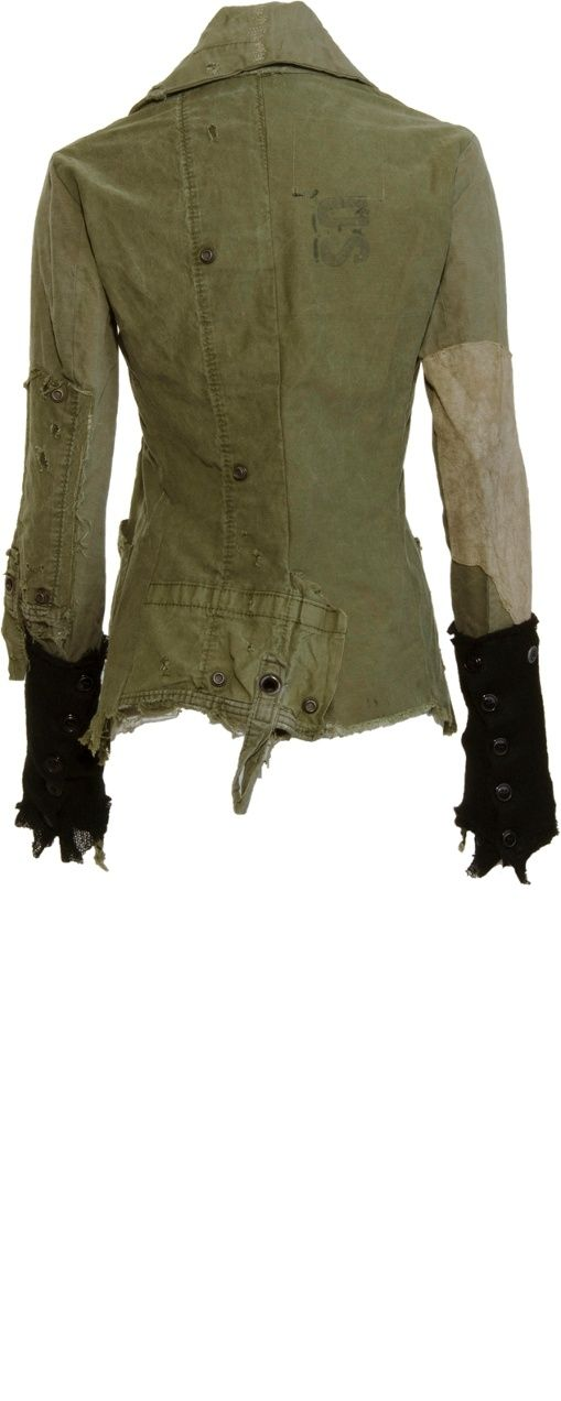 Post-Apocalyptic Fashion, Greg Lauren Army Tent Arm Warmer Jacket by ViolaBlackRaven