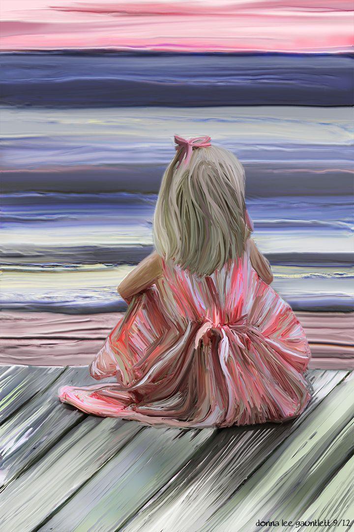 #child #beach #art #donna gauntlett