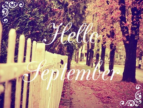 Hello September Autumn Sidewalk