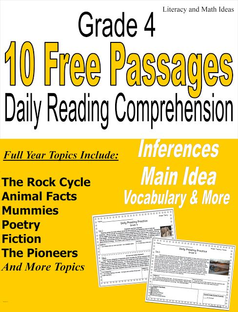 10 Free nonfiction passages for daily reading comprehension grade 4. Try it out for free. Questions, progress charts and answer keys are included.