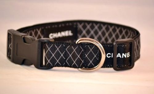 Luxury Car Outlet >> Authentic Chanel Ribbon Dog Collar Black Quilted Designer