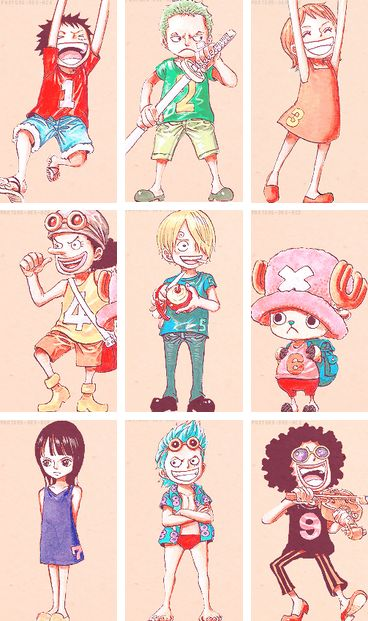 The Straw Hats as Kids!