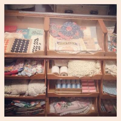 HaberdasherySewing Room, Studios Spaces, Ecletic Haberdashery, Creative Spaces, Crafts Spaces, Crafts Room, Vintage Sewing, Shops Inspiration, Vintage Haberdashery