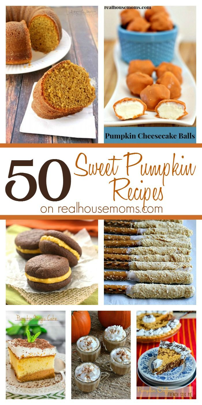 50 Sweet Pumpkin Recipes on Real Housemoms