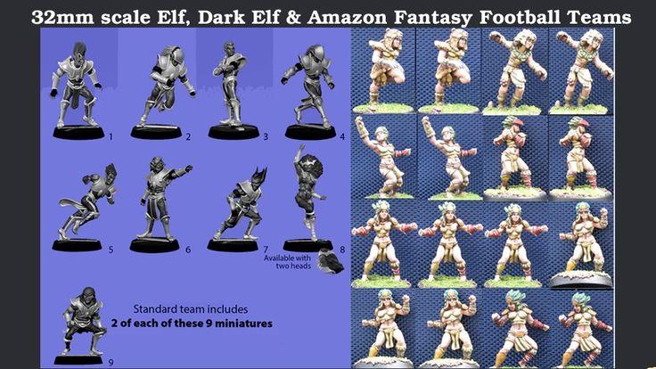 New Amazon, Elf, and Dark Elf Fantasy Football Teams On Kickstarter  http://www.tabletopgamingnews.com/new-amazon-elf-and-dark-elf-fantasy-football-teams-on-kickstarter/