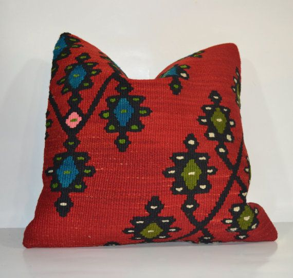 Hey, I found this really awesome Etsy listing at https://www.etsy.com/listing/177485546/red-kilim-embroidery-pillow-vintage