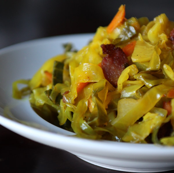 Jamaican Curry Cabbage- see comment below for recipe, link takes you to a porn site :I