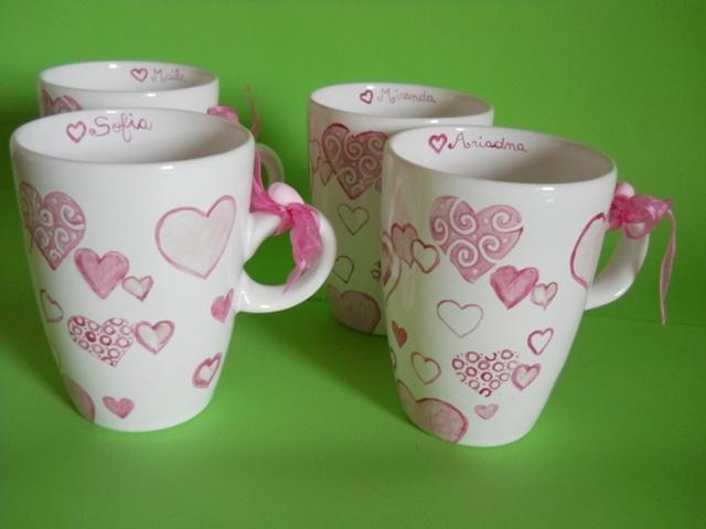 Tazas personalizadas pintadas a mano tazas decoradas - Tazas decoradas a mano ...