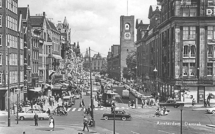 Amsterdam: Het Damrak - 1960