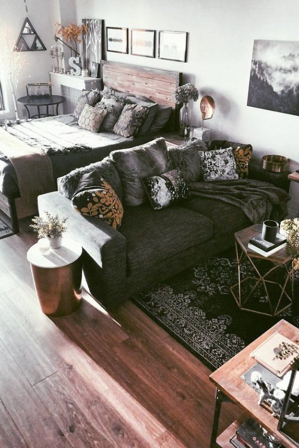 32 Beautiful Rustic Studio Apartment Decor Ideas Studio
