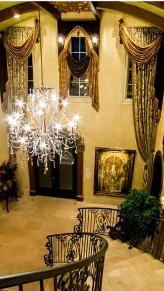 bed crown foyer design entry foyer decor tuscan decor window treatments decor styles hallways foyers