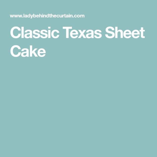 Classic Texas Sheet Cake