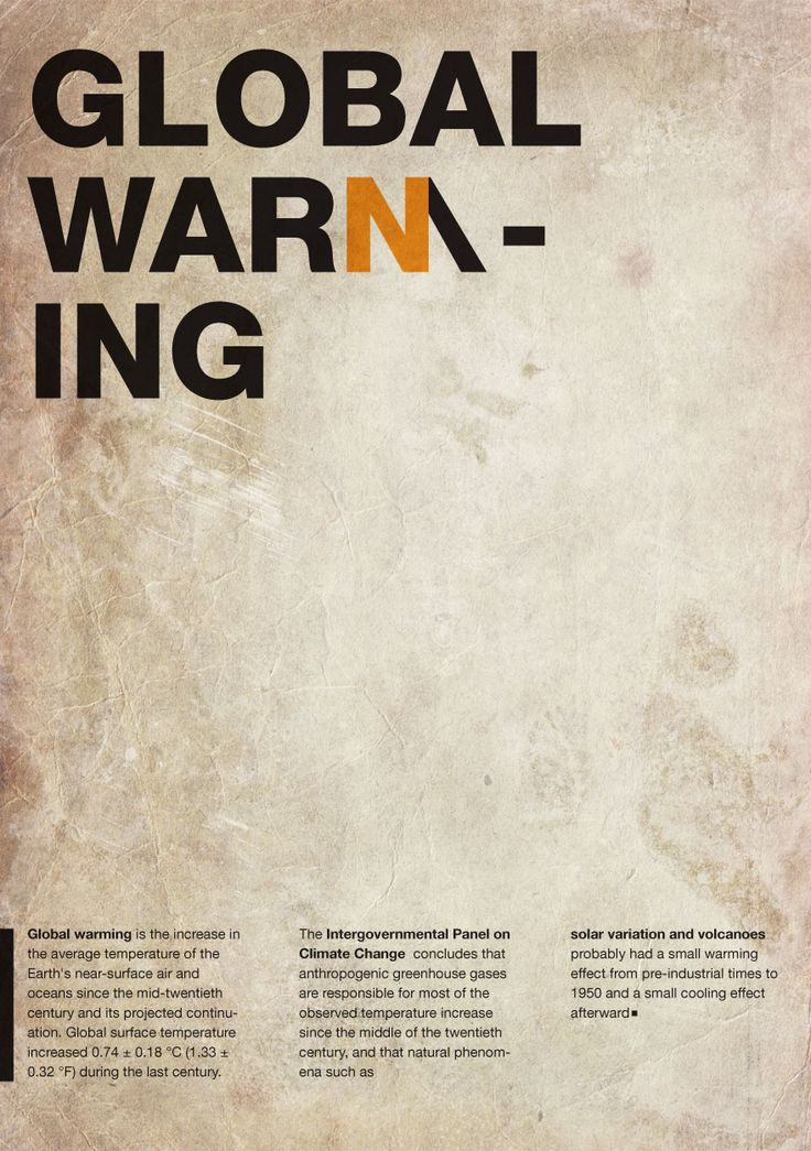 Ideas for a global warming poster