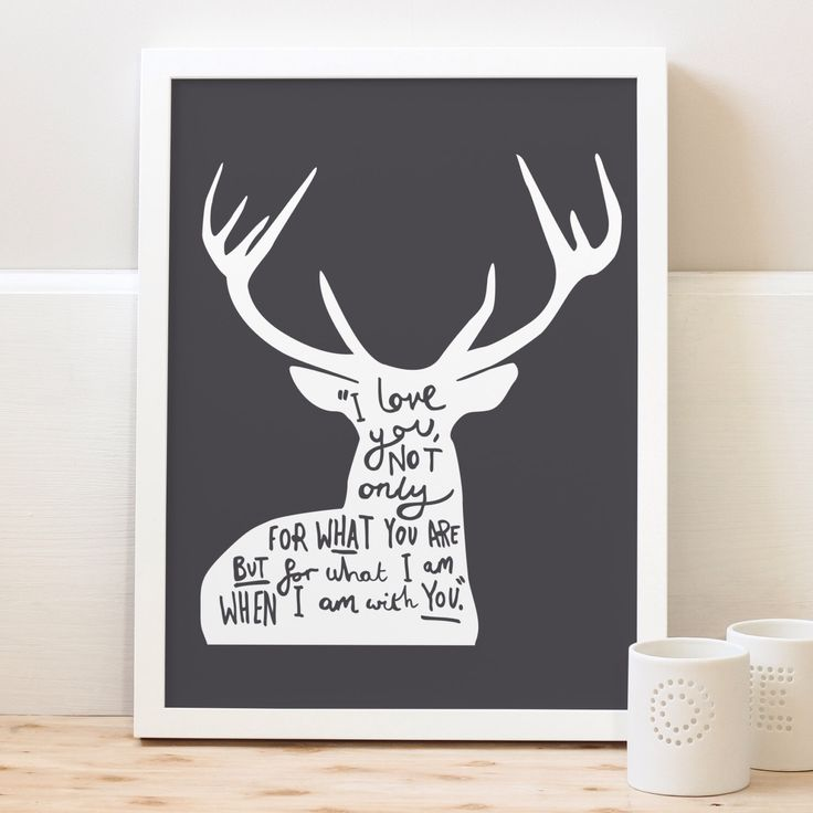 A4 Love Quote Deer Print - woodland deer print - typography print by OldEnglishCo on Etsy https://www.etsy.com/listing/114485012/a4-love-quote-deer-print-woodland-deer