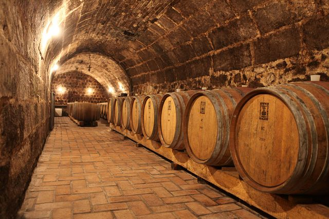 Inside a cellar, Etyek-Buda Wine Region.