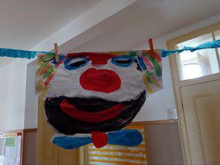 carnaval -cara de palhaço