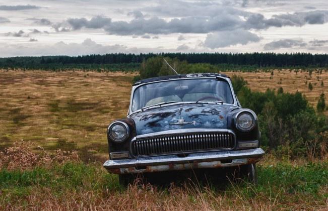 old car (Заброшенные автомобили, живущие своей жизнью)