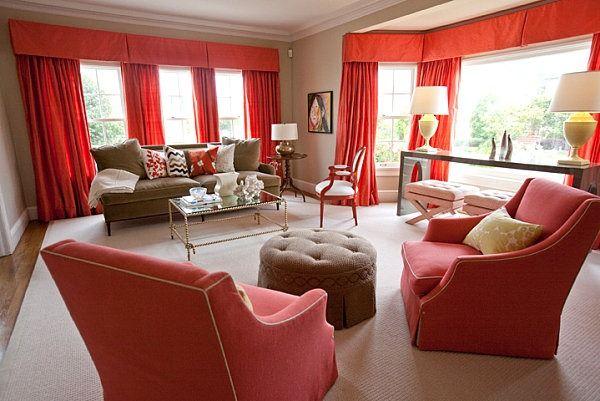 Coral interior design | 26 Idées Gris Et Coral décoratrice