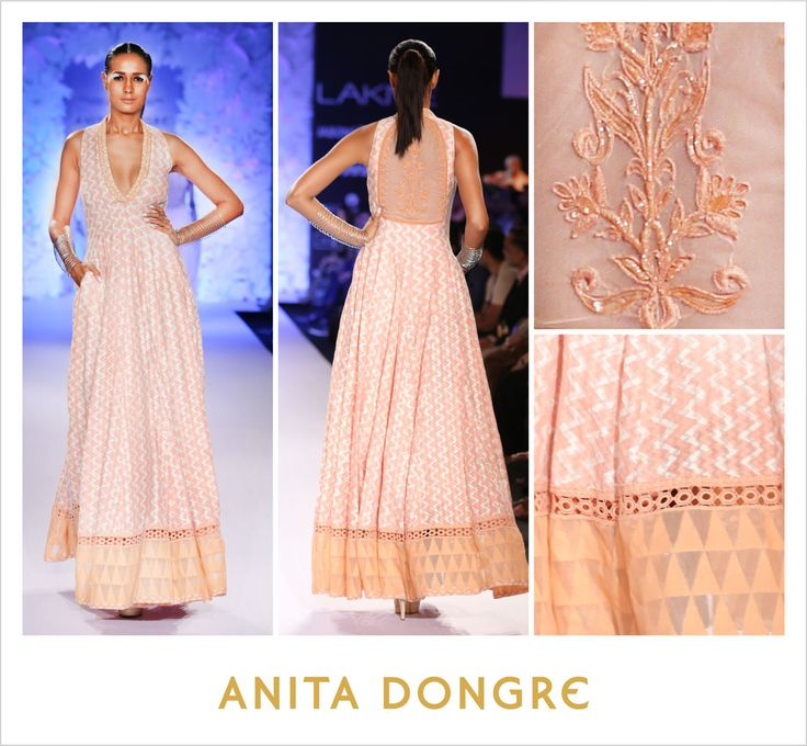 Attending a summer destination wedding? This is the gown to be seen in. #blockprint #varanasi  To buy online - http://shop.anitadongre.com/runway-special/lfw-2014/old-rose-banaras-block-printed-back-embroidered-gown-4035.html/?utm_source=FBADPAGE&utm_medium=FBPOST&utm_campaign=FB