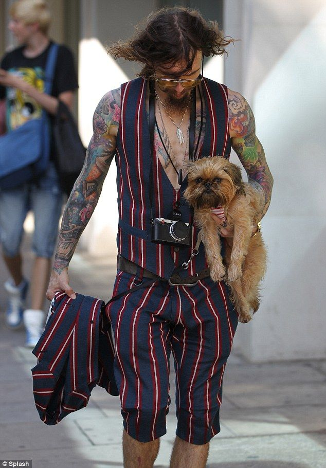 Justin Hawkins & pup