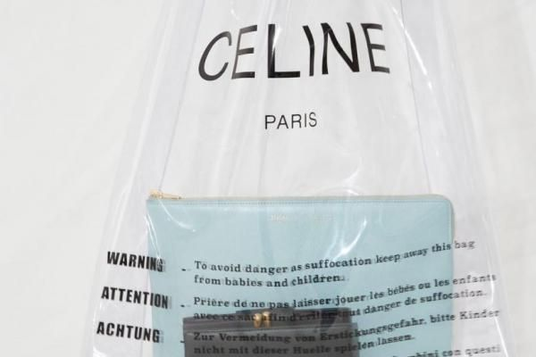 Luxury designer's clear plastic shopping bag selling for $590
