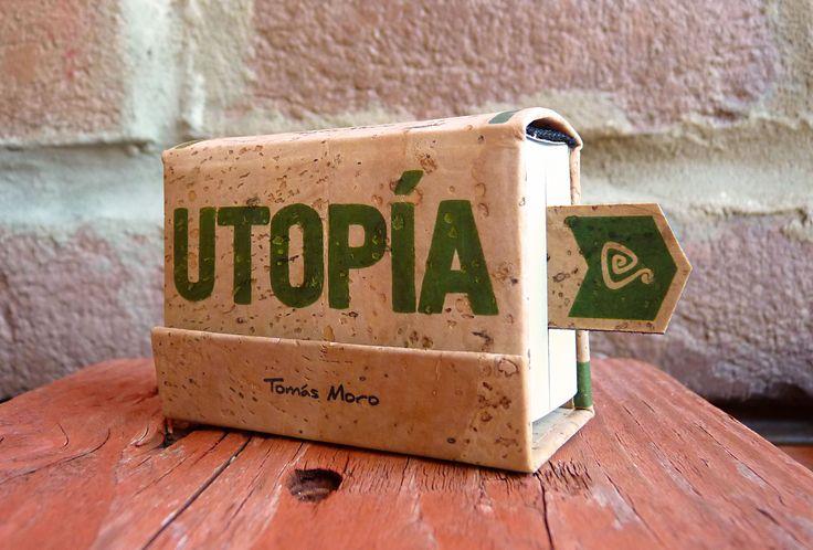 """Utopía - Tomás Moro / Minilibros Artesanales / Bukkis Nº5 / Colección """"Siempreverde"""""""