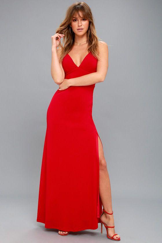 Limousine Queen Red Maxi Dress 1