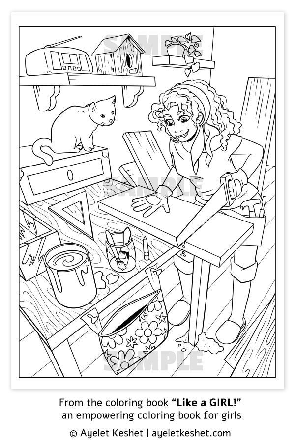 the empowering coloring books for girls