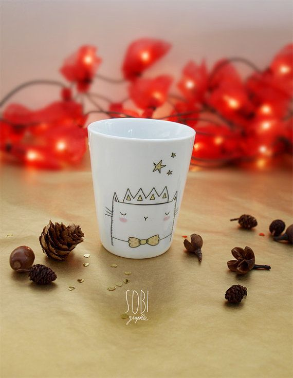 teacup  Cupcake Cat by Sobigraphie on Etsy, €16.40